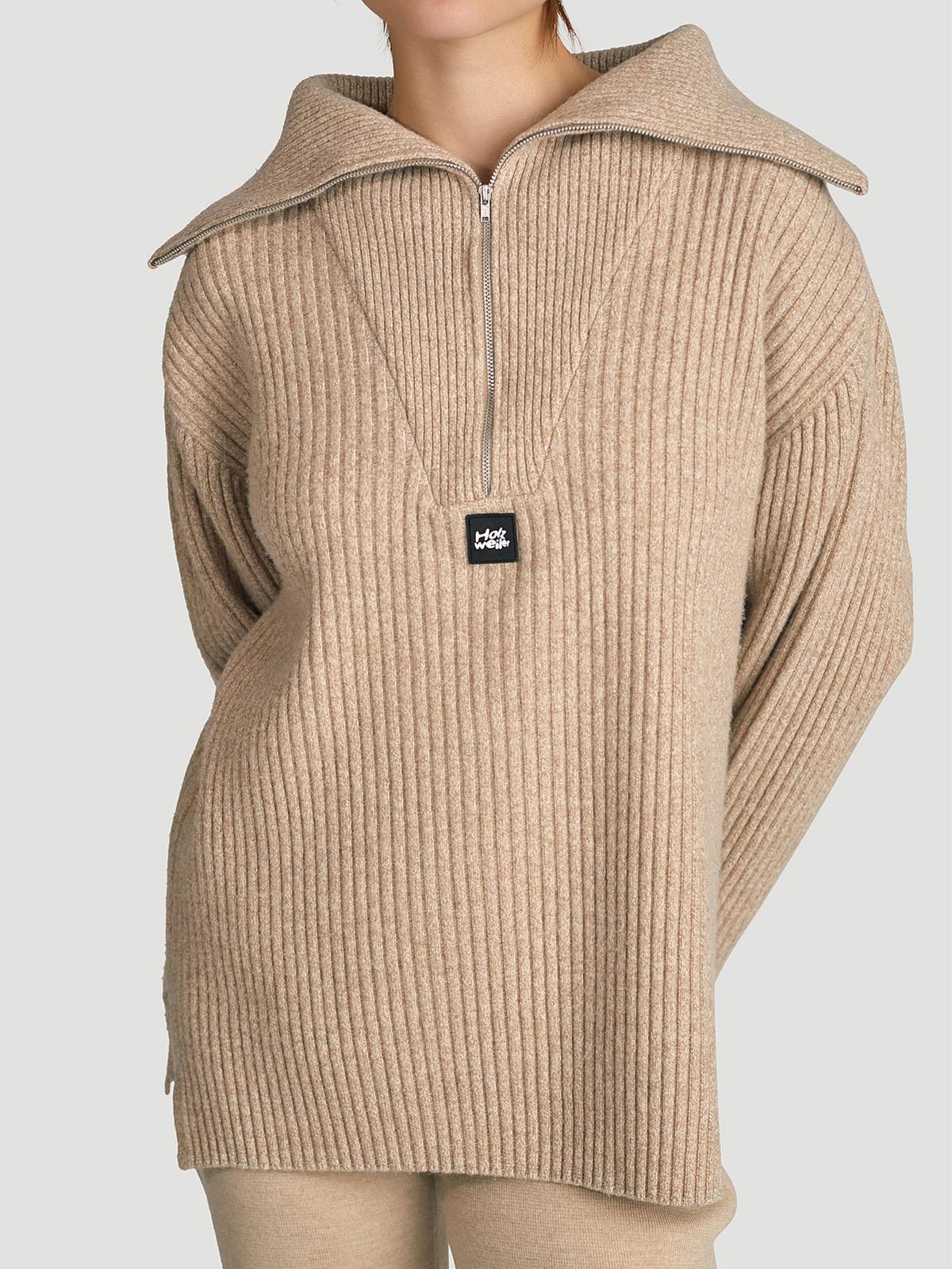 React Knit Sweater  Sand 1