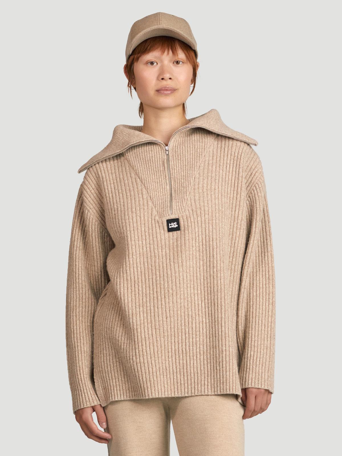 React Knit Sweater  Sand 0