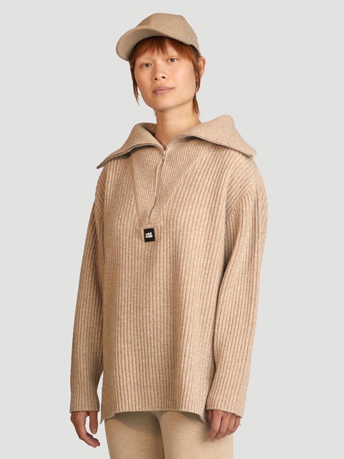 React Knit Sweater  Sand 3
