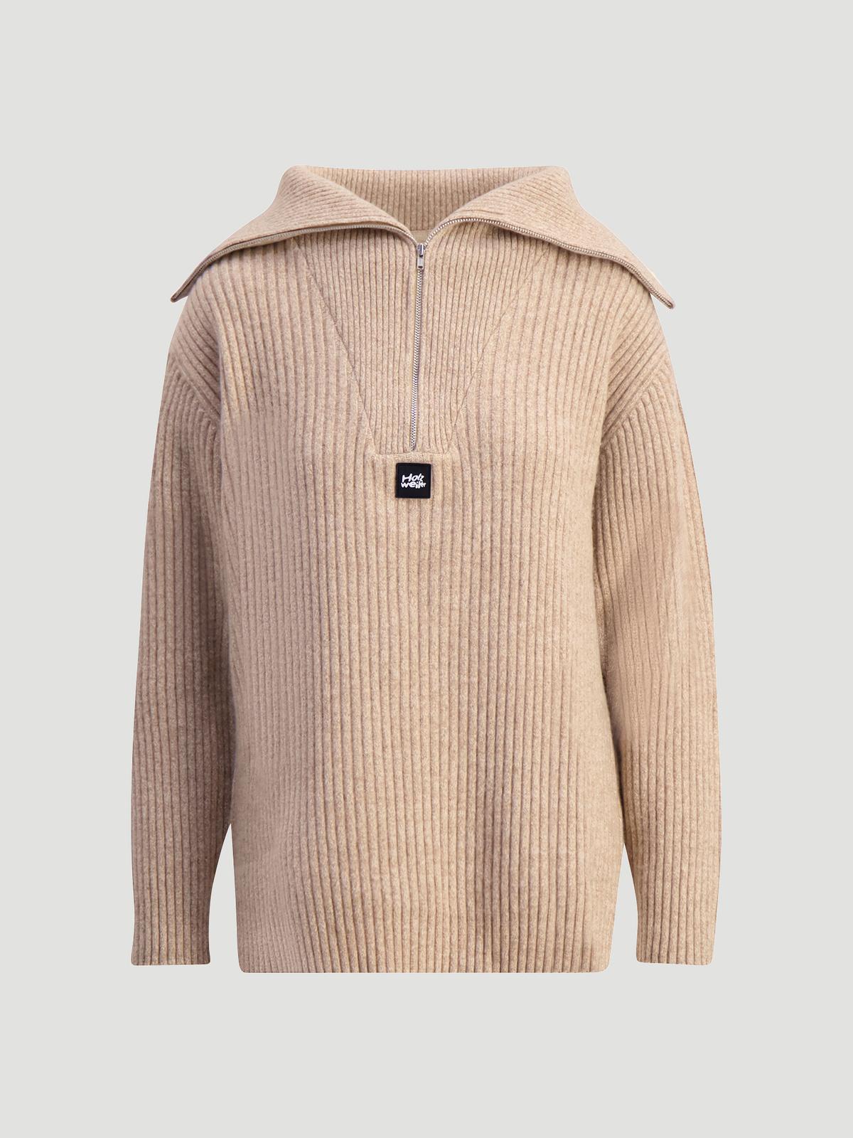 React Knit Sweater  Sand 5